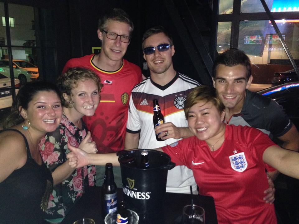2 U.S.-Americans, one Belgian, one Malaysian, one French (who was really a German) and I.